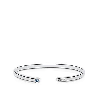 WWE Evolution Engraved Sterling Silver Blue Topaz Cuff Bracelet