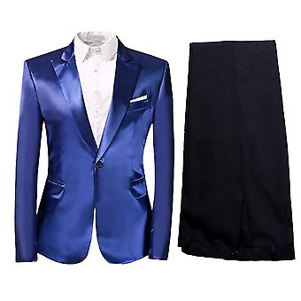 Alle Themen Herren 2-teilig Solid Suits One Button Casual&Formal Slim Fit Suits Blazer&Trousers