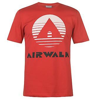 Airwalk hombres Classic impresión camiseta camiseta camiseta top manga corta Crew Cuello