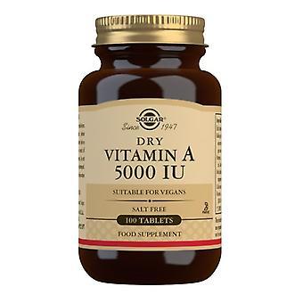 Solgar Dry Vitamin A 5000iu Tabletten 100 (2820)