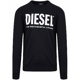 Diesel svart trykt logo Pullover