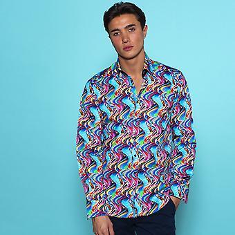 CLAUDIO LUGLI Groovy Marmor Print Shirt