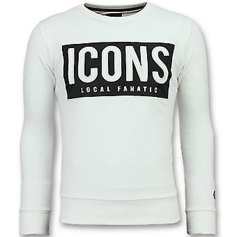 ICONS Block - Coole Sweater - 6355W - Wit