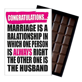 Wedding Congratulations Gift Cute Funny Chocolate Present for Marriage IYF175