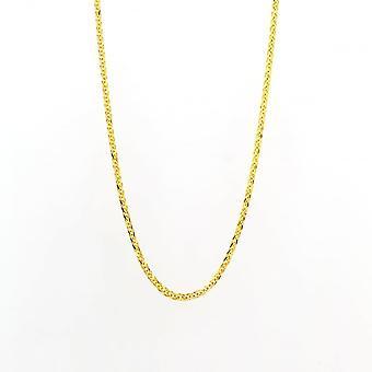 Eternity 9ct Gold 18'' Square Spiga Chain