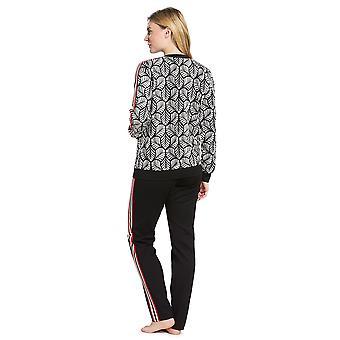 Feraud 3191097-16365 Women's Couture Black Leaves Loungewear Set