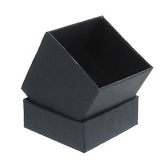 صندوق هدايا أسود مع رغوة إدراج مربع صغير
