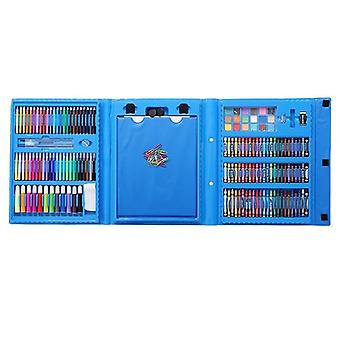 Coloring box for children, 176 parts-Blue