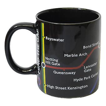 Licensed official tfl london underground™ tube map mug-black