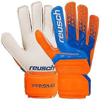 Reusch Prisma RG Finger Support Mens Goalkeeper Goalie Glove Orange/Blue