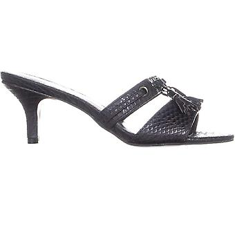 Callisto Womens Jeanet Leather Open Toe Casual Slide Sandals