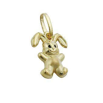 Кулон кролика Золото 375 Кулон кролика, 9 KT ЗОЛОТО