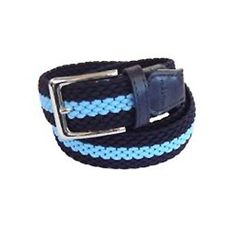 TYLER & TYLER Stripe Woven Fabric Belts