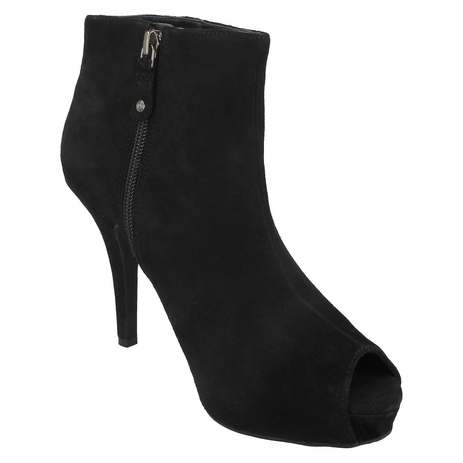 Ladies Rockport Peep Toe Hæler Ankel Boots K59059
