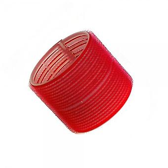 Hair tools cling rollers jumbo red 70mm x6