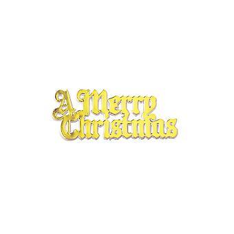 Culpitt Kunststoff Ein Frohes Weihnachten Gold farbige Sand - Single