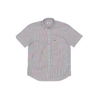 Red Lacoste men's short-sleeved shirt