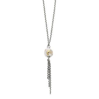 925 Sterling Silver Fancy Lobster Closure Enamel Fancy Drop Necklace 18 Inch Jewelry Gifts for Women