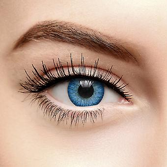 Two Tone Light Blue Circle Colored Contact Lenses (Daily)