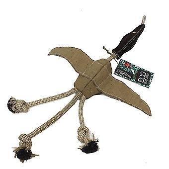 Green & Wild Desmond Duck Eco Dog Toy Jute & Suede Green & Wild
