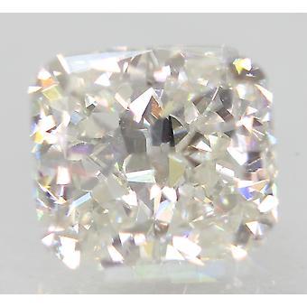 معتمدة 1.11 قيراط F VVS2 وسادة تعزيز الماس الطبيعي فضفاضة 6.11x5.5m 2VG