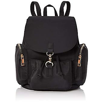 New Look GAZ Grungey Black Women's Backpack Bag (Black) 15x25x28 Centimeters (W x H x L)
