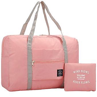 Taitettava laukku - vaaleanpunainen