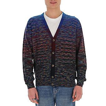 Missoni Mum00090bk00ges70ce Men's Multicolor Wool Cardigan