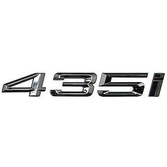 Silver Chrome BMW 435i bilmodel bag boot nummer brev mærkat decal badge emblem for 4-serien F32 F33 F36 G22 G23 G26
