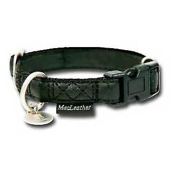 Nayeco coleira de cachorro MacLeather preto XL
