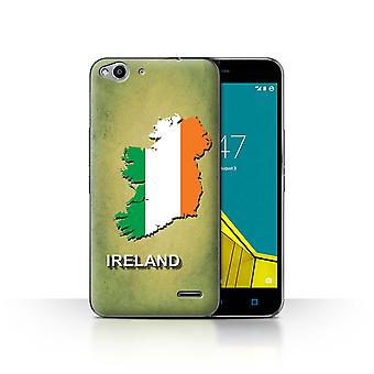 STUFF4 Case/Cover for Vodafone Smart Ultra 6/Ireland/Irish/Flag Nations