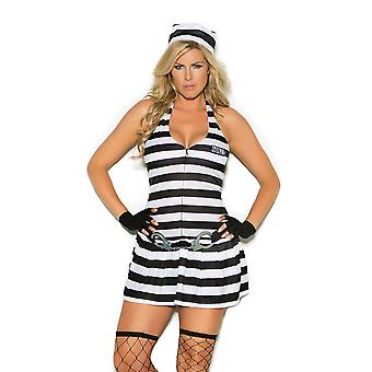 Elegant Moments Womens Plus Size Convict Cutie Prisoner Inmate Halloween Costume