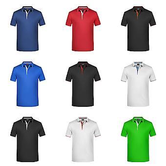 James and Nicholson Mens Polo Stripe Shirt