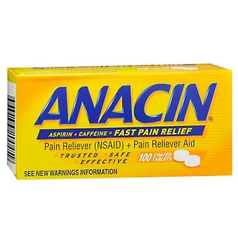 Anacin pain reliever (nsaid) + pain reliver aid, coated tablets, 100 ea