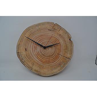Wooden wall clock wood clock Atlas cedar 30.5x29.5 cm tree disc clock wood decoration wood decoration decoration gift gift idea handmade Made in Austria cedrus
