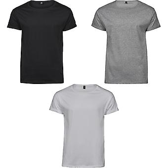 Tee Jays Mens oprolbare T-Shirt