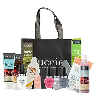 Cuccio Essential Bumper Manicure At Home Kit - Pomegranate & Fig - 15 Piece Starter Kit