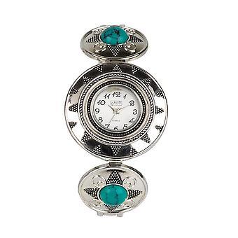 Eton Womens Bohemian style Watch, Mock Turquoise Stone Bracelet 2840J-TQ