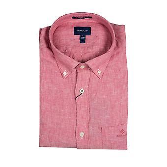 Gant Leinen regelmäßige Fit Shirt Entrückung Rose