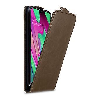 Cadorabo Hülle für Samsung Galaxy A40 hülle case cover - Handyhülle im Flip Design mit Magnetverschluss - Case Cover Schutzhülle Etui Tasche Book Klapp Style