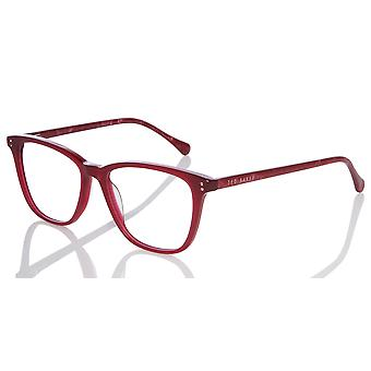 Ted Baker Maple TB9131 205 Burgundy Glasses
