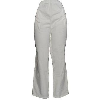 Mujeres's Petite Original Waist Stretch Pantalones Blanco A43881