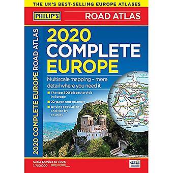 2020 Philip's Complete Road Atlas Europe - (A4 Flexiback) von Philip's