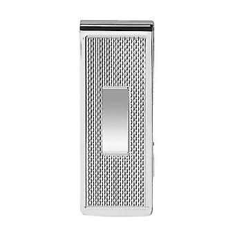 Orton West Diagonal Striped Money Clip - Silver