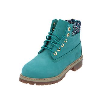 Timberland 6 In Premium WP Boat Kids Boots Green Lace-Up Boots Winter