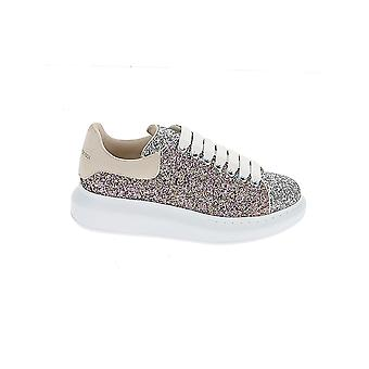 Alexander Mcqueen 558944w4ey93727 Kvinder's Sølv læder Sneakers