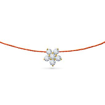 Choker Fairy Flower 18K Or et Diamants, sur fil - Or Jaune, NeonOrange