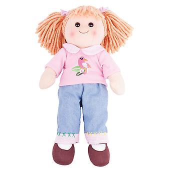 Bigjigs Toys Soft Plush Molly Doll (38cm) Ragdoll Cuddly Toy