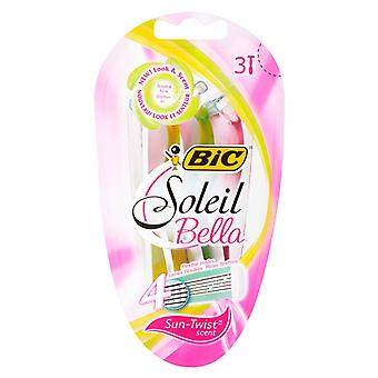 Bic soleil bella for women, disposable shaver, scented, 3 ea