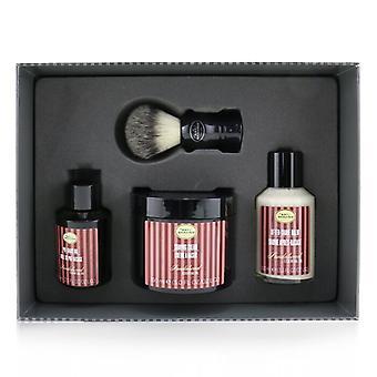 El arte de afeitar 4 elementos afeitado kit de tamaño completo - sándalo: aceite de pre-afeitado 60ml + crema de afeitar 150ml + bálsamo después del afeitado 100ml + cepillo de tejón genuino - 4pcs